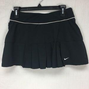 Nike Black Pleat Detail Tennis Skort